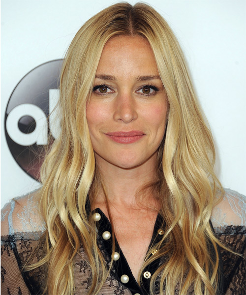 Piper Perabo Long Wavy Casual Hairstyle - Light Blonde Hair Color