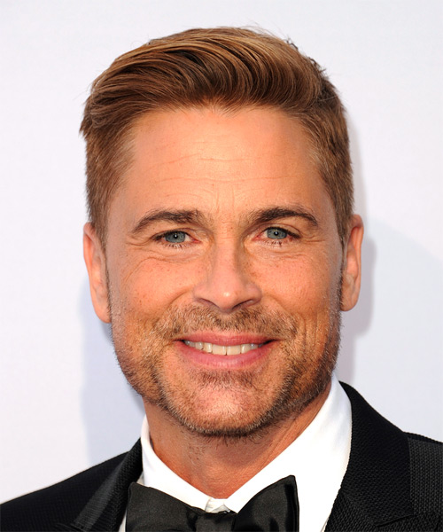 Rob Lowe Short Straight Hairstyle - Dark Blonde