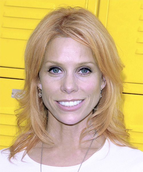Cheryl Hines - Casual Medium Wavy Hairstyle
