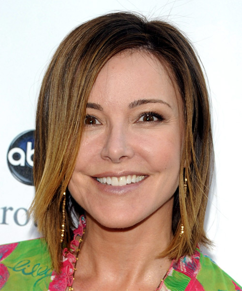 Christa Miller Medium Straight Casual Hairstyle
