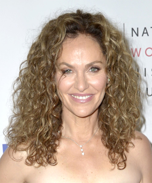 Amy Brenneman Long Curly Casual Hairstyle - Dark Blonde Hair Color