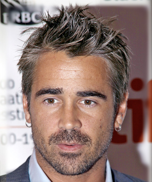 Colin Farrell Short Straight Casual Hairstyle (Ash)