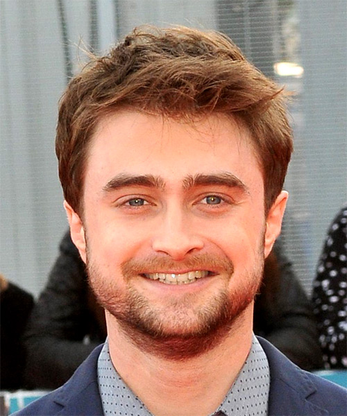 Daniel Radcliffe Short Straight Casual Hairstyle - Light Brunette Hair Color