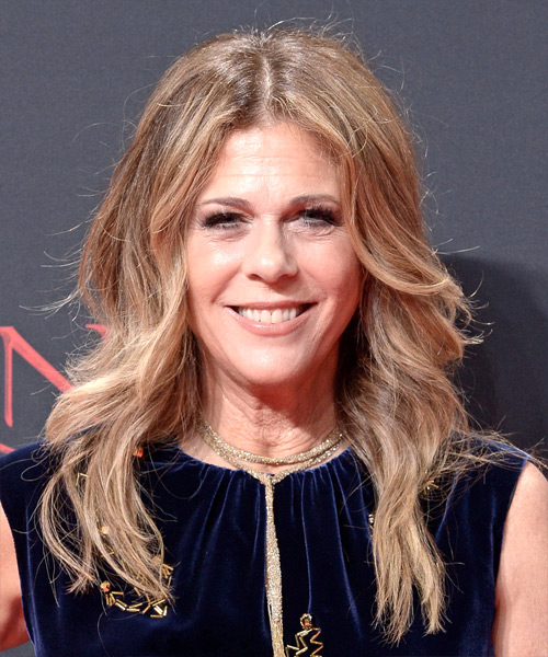 Rita Wilson Long Wavy Casual Hairstyle Dark Blonde Hair