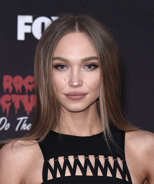 Ivy Levan Medium Straight Formal Hairstyle - Medium Brunette (Chestnut) Hair Color