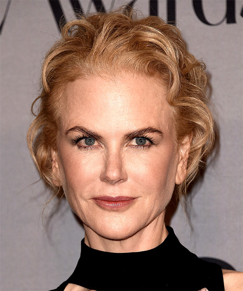 Nicole Kidman Long Wavy Casual Updo Hairstyle - Light Blonde (Strawberry) Hair Color