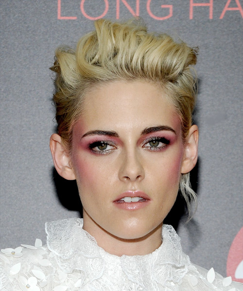 Kristen Stewart Short Wavy Hairstyle - Light Blonde
