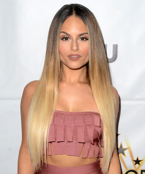 Pia Toscano Long Straight Hairstyle - Light Blonde