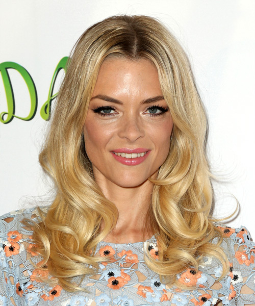 Jaime King Long Wavy Casual Hairstyle - Medium Blonde Hair Color