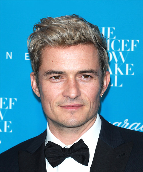 Orlando Bloom Short Wavy Casual Hairstyle