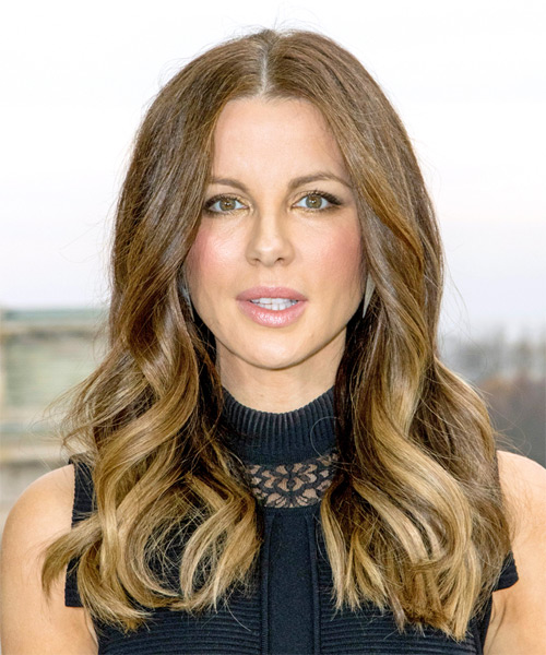 Kate Beckinsale Long Wavy Formal Hairstyle - Light Brunette Hair Color