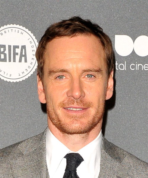 Michael Fassbender Short Straight Hairstyle - Medium Brunette