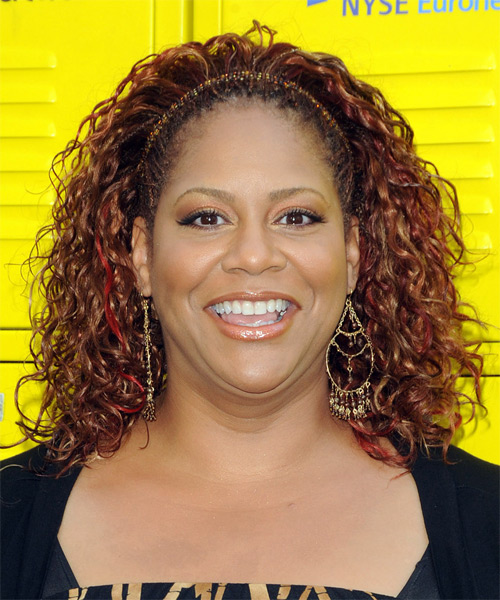 Kim Coles Long Curly Casual Hairstyle