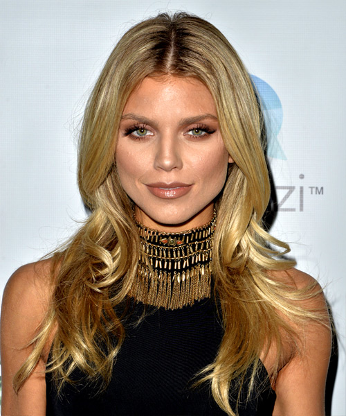 AnnaLynne McCord Long Straight Casual Hairstyle - Medium Blonde Hair Color