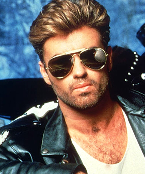 George Michael Short Straight Hairstyle - Light Brunette
