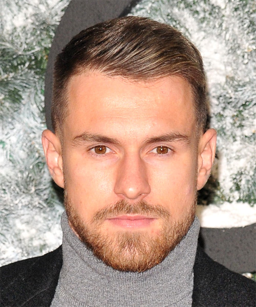 Aaron Ramsey Short Straight Hairstyle - Medium Brunette