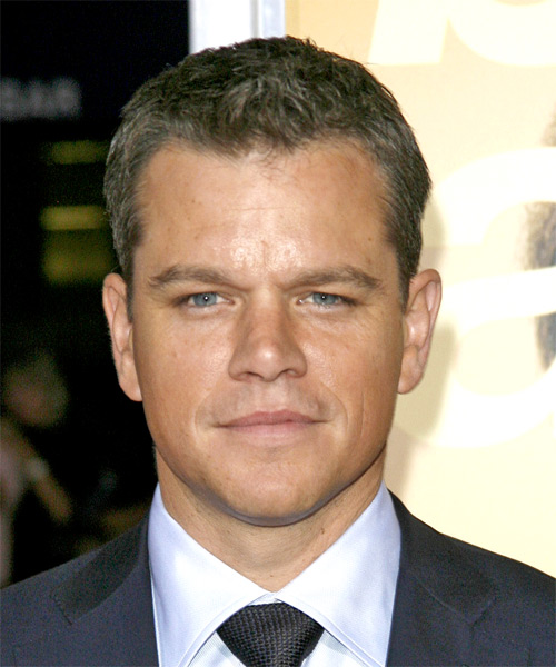 Matt Damon - Formal Short Straight Hairstyle