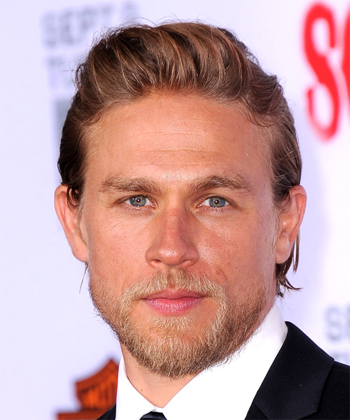 Charlie Hunnam Short Straight Casual Hairstyle - Medium Brunette Hair Color