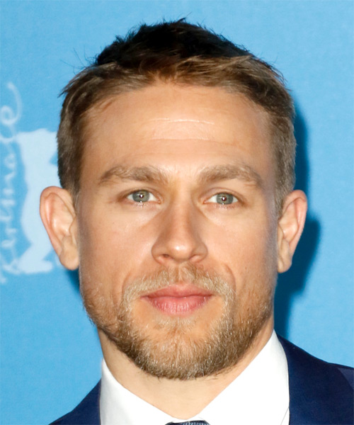Charlie Hunnam Short Straight Hairstyle - Dark Blonde
