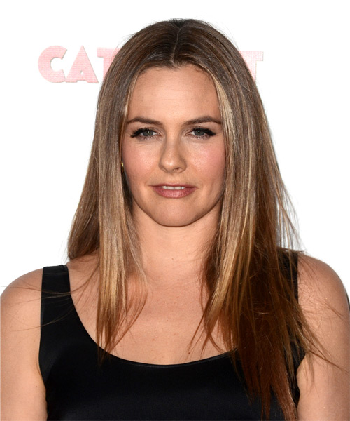 Alicia Silverstone Long Straight Hairstyle - Light Brunette