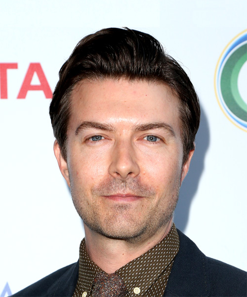 Noah Bean Short Straight Formal Hairstyle - Dark Brunette Hair Color