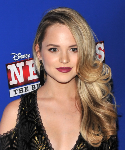Stephanie Styles Long Wavy Formal Hairstyle - Medium Blonde Hair Color