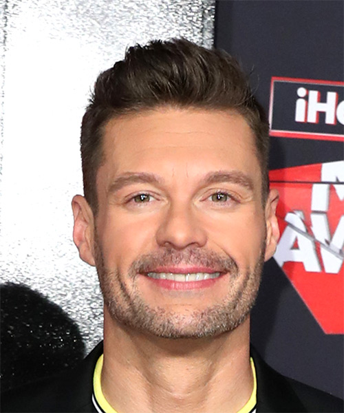 Ryan Seacrest Short Straight Hairstyle - Medium Brunette