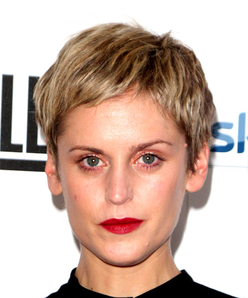 Denise Gough Short Straight Pixie Hairstyle - Light Blonde
