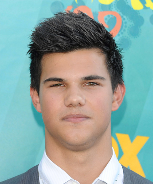 Taylor Lautner Short Straight Hairstyle - Dark Brunette (Ash)