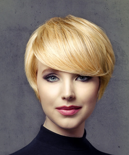 Short Straight Formal Pixie Hairstyle - Light Blonde (Golden)