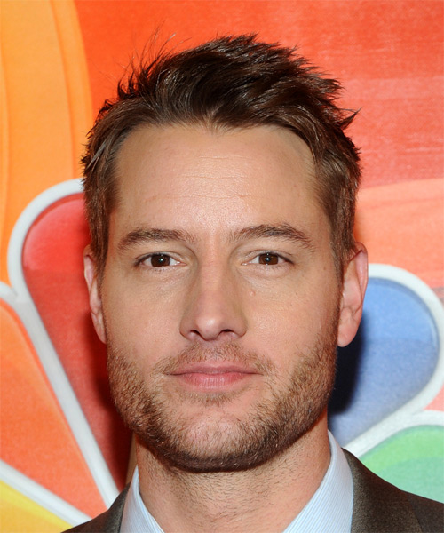 Justin Hartley Short Wavy Casual  - Medium Brunette