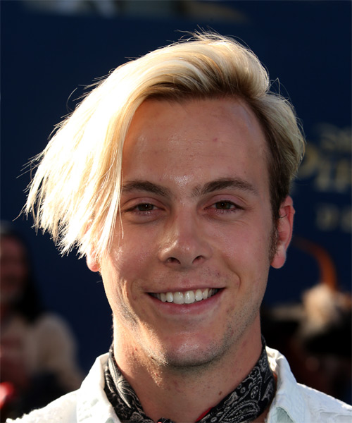 Riker Lynch Short Straight Casual Undercut Hairstyle - Light Blonde Hair Color