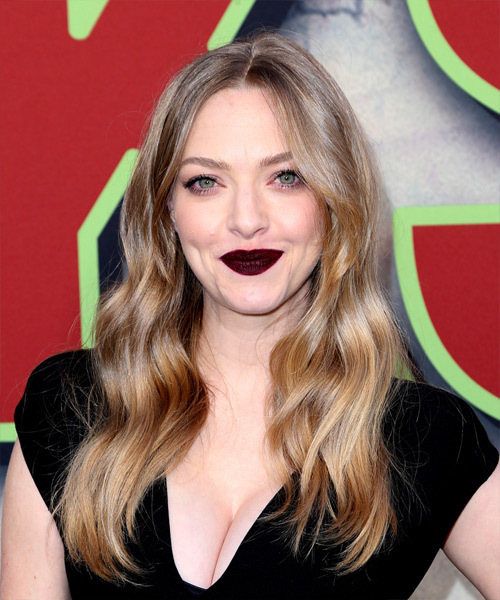 Amanda Seyfried Long Wavy Casual Hairstyle - Light Blonde (Ash) Hair Color