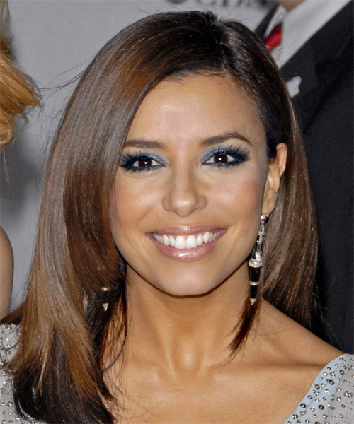 Eva Longoria Parker Long Straight Formal Hairstyle - Dark Brunette Hair Color