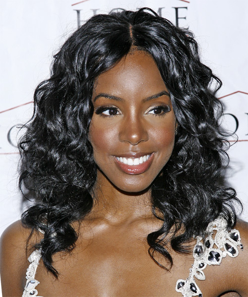 Kelly Rowland Long Curly Casual Hairstyle