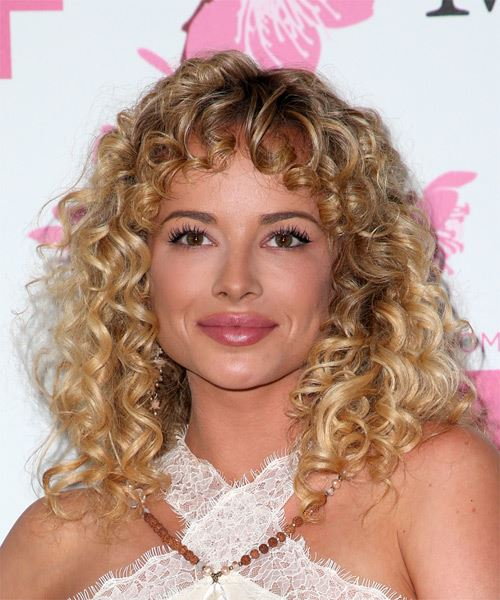 Ashley Rickards Medium Curly Casual  - Medium Blonde (Golden)