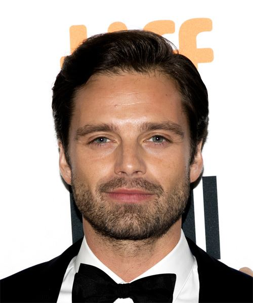 Sebastian Stan Short Straight Casual  - Dark Brunette