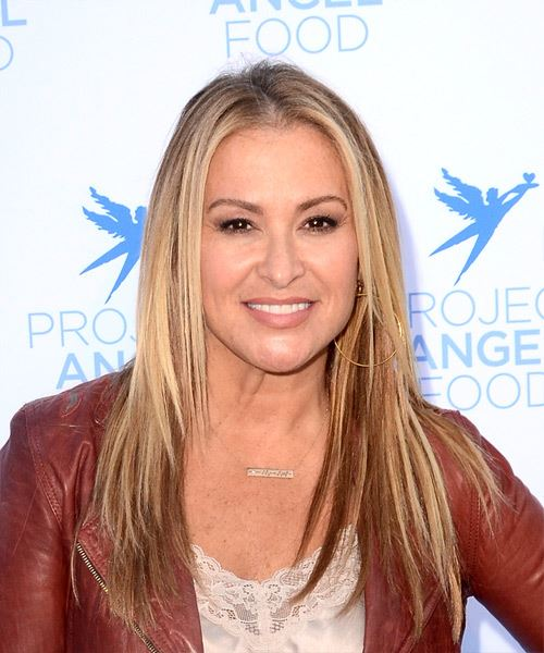 Anastacia Long Straight Casual Hairstyle - Medium Blonde Hair Color