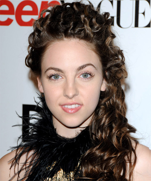 Brittany Curran Half Up Long Curly Hairstyle