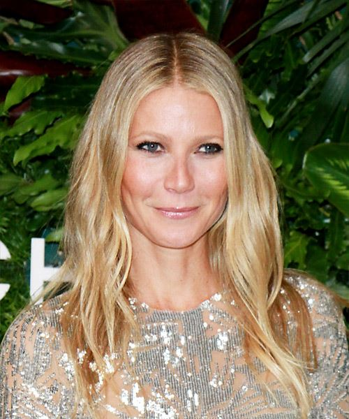 Gwyneth Paltrow Long Wavy Casual Hairstyle - Light Blonde (Champagne) Hair Color