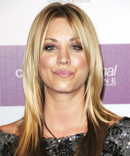 Kaley Cuoco - Straight  Long Straight Hairstyle