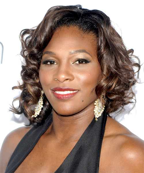 Serena Williams Medium Curly Formal Hairstyle