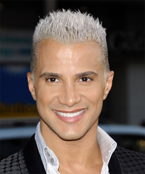 Jay Manuel Short Straight Alternative Hairstyle - Light Blonde (Platinum) Hair Color