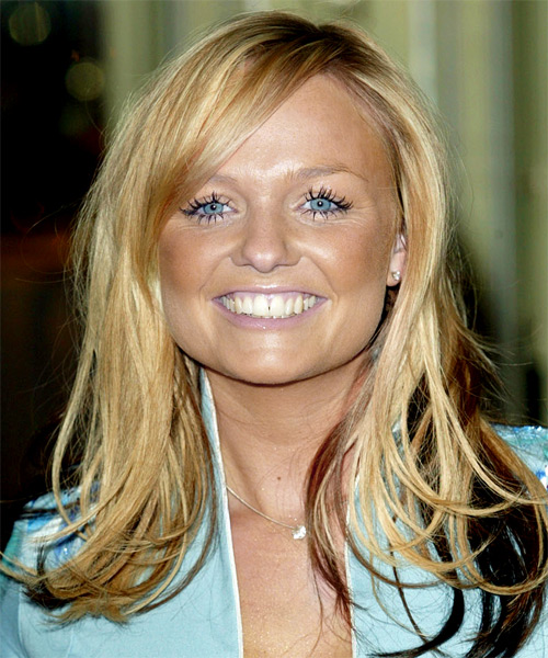 Emma Bunton - Casual Long Straight Hairstyle