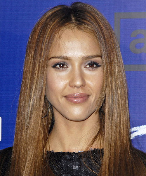 Jessica Alba Long Straight Casual Hairstyle