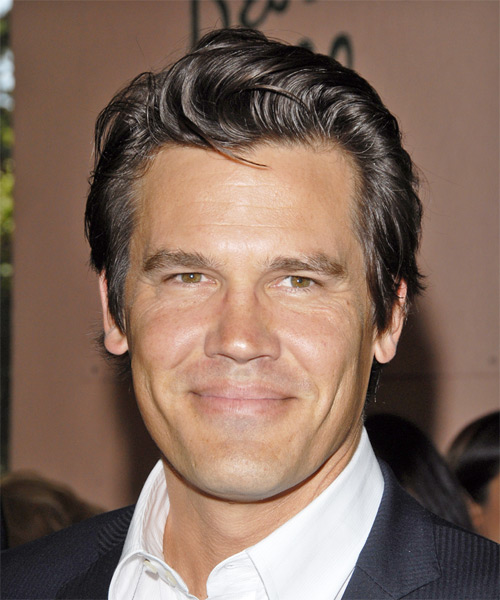 Josh Brolin - Formal Short Straight Hairstyle