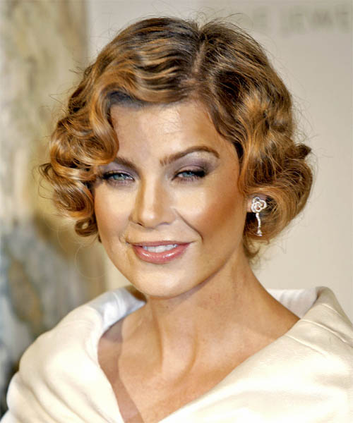 Ellen Pompeo Short Wavy Formal Hairstyle
