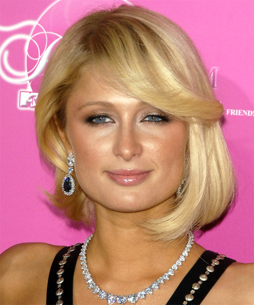 Paris Hilton Medium Straight Alternative Hairstyle