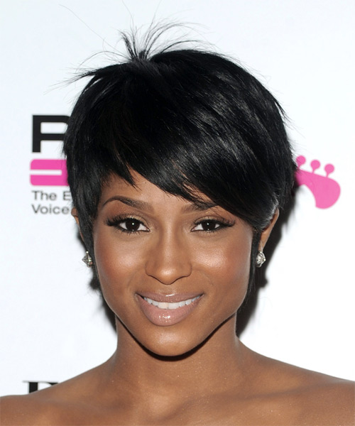 Ciara Short Straight Hairstyle