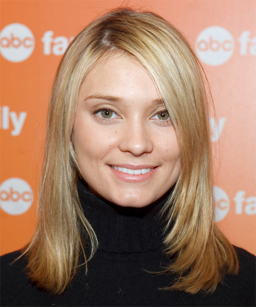 Spencer Grammer - Casual Medium Straight Hairstyle